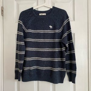 Abercrombie Kids Blue Waffle-Knit Sweater